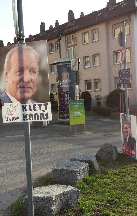 Wahlkampf mit Klett, Siebel