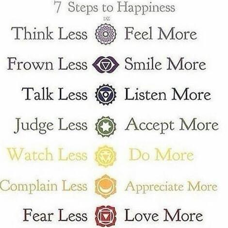 7 Steps to Happiness - 7 Schritte zum Glück