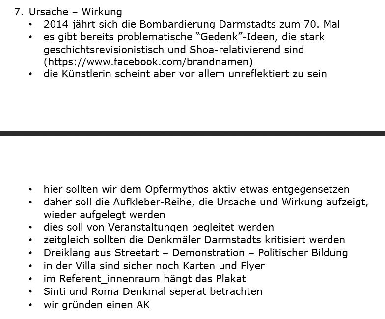 Auszug aus dem Protokoll der AStA-Sitzung vom 17.12.2013