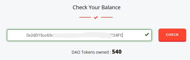 DAO Balance