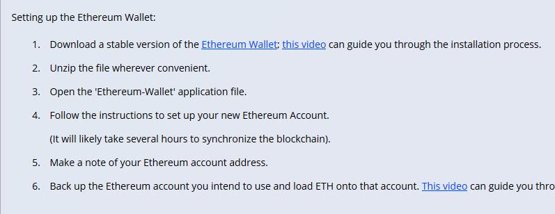 Ether Wallet installieren