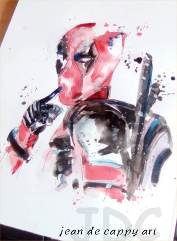 Deadpool - gemalt von Jean De Cappy Art