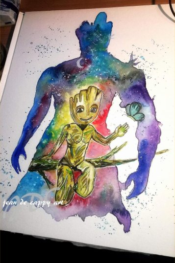 Guardians of the Galaxy - gemalt von Jean De Cappy Art