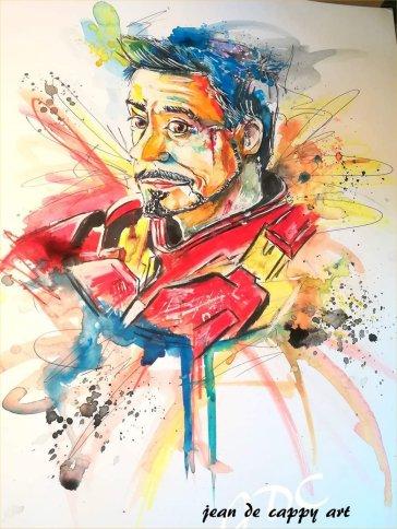 Ironman - gemalt von Jean De Cappy Art