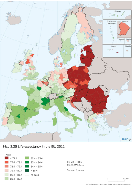 Life expectancy in the EU