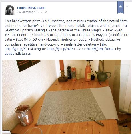 Kunstaktion durmstädter Brandnamen - Luise Bostonian beschreibt die Methode