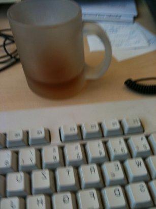Tastatur & Teetase