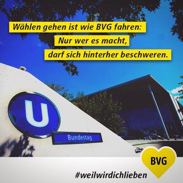 Wählen gehen ist wie BVG fahren