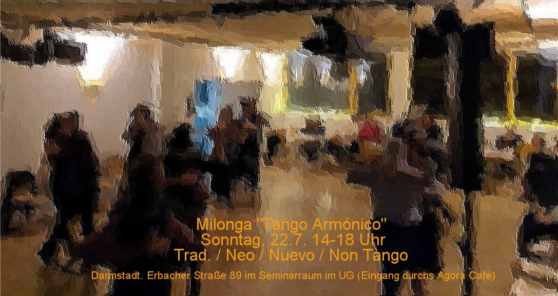 Flyer für die Milonga