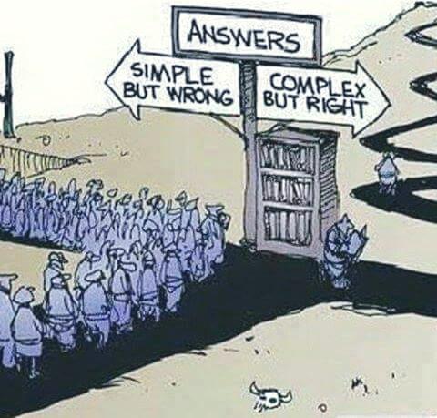 Einfach, aber falsch vs. complex aber richtig