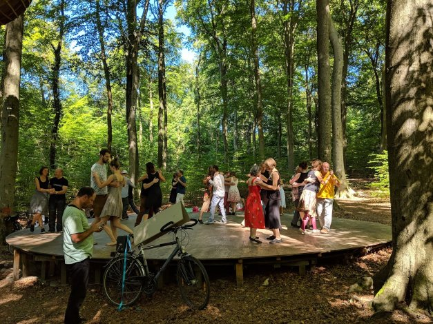 Tanzplattform am Waldkunstpfad in Darmstadt