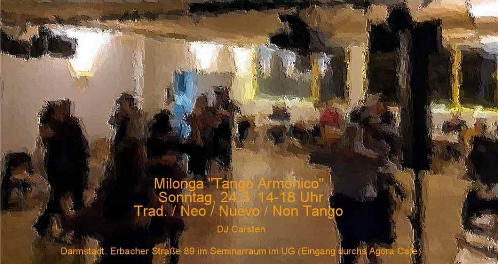 "Flyer der Milonga ""Tango Armónico"""