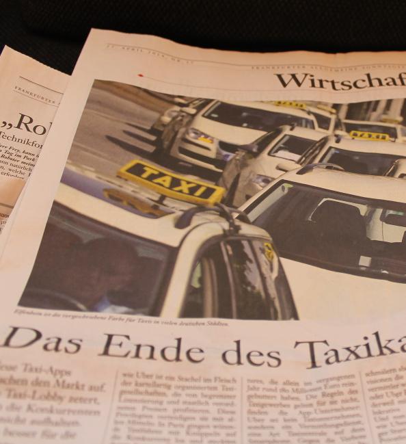 Taxikartell in der FAZ